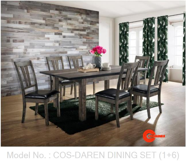 COS-DAREN DINING SET (1+6)